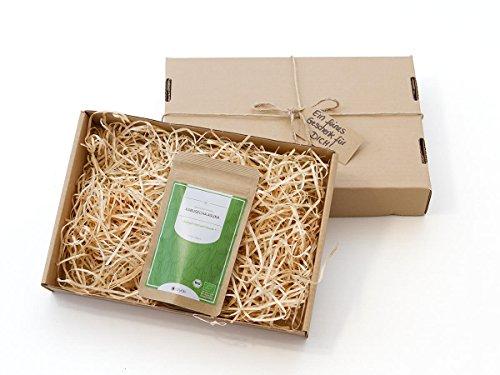 Gesundes Tee-Geschenk mit Grüner Tee Kabusecha Asuka, BIO-zertifiziert, Super-Premium, halb-beschattet. 50 g, lose, nicht aromatisiert. Kleiner Tee-Garten Präfektur Kagoshima (Süden). Sehr edel, herzhaft mit frischer Süße. Mit Geschenk-Verpackung und Gruß (Jasmin Tee Frei Grüner Koffein)
