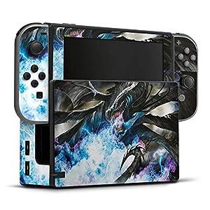 Skin Aufkleber Sticker Folie für Nintendo Switch Dragon Drache Ice