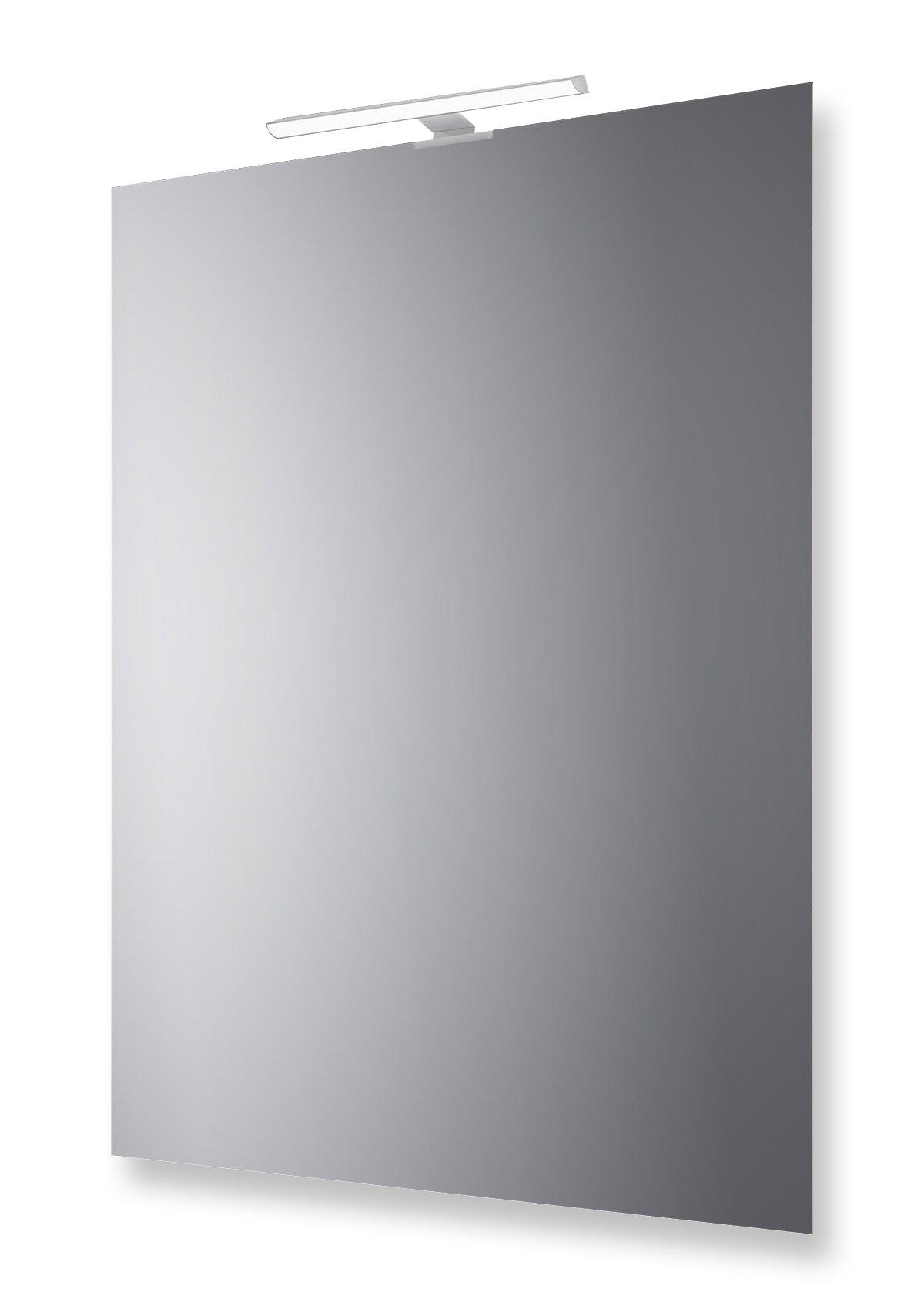 Specchio Bagno Con Lampada.San Marco Specchio Bagno Reversibile Con Lampada Led 70x50 Cm Casame