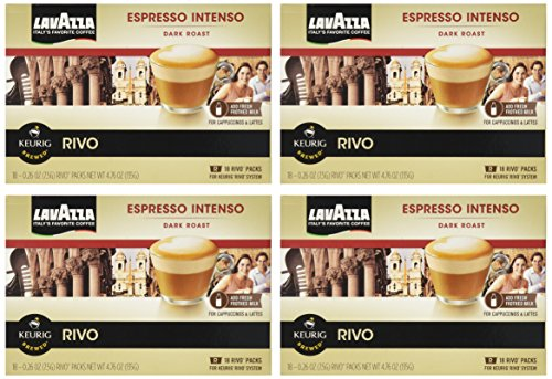 Lavazza Espresso Intenso for Keurig Rivo System (Pack of 4, 18 Count Each) by Lavazza