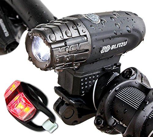Super Bright USB rechargeable pour vélo–xawy Gator 320puissant pour vélo–Lampe arrière inclus. 320lumens lumière LED avant. Imperméable, facile d'installation pour vélo Lampe torche de sécurité