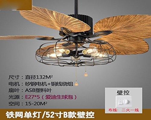 MOMO Personalisierte dekorative Beleuchtung Bluetooth Sound, unsichtbare Fan-Lampe, Musik, 42-Zoll-Deckenventilator, Esszimmer, Wohnzimmer, Schlafzimmer mit Lampe, Deckenventilator 42 Zoll,A Tiffany-lampe Musik