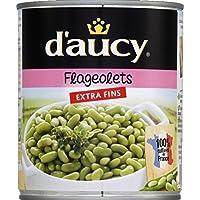 D'Aucy Flageolets verts extra fins La boîte de 530g - Prix Unitaire - Livraison Gratuit Sous 3 Jours