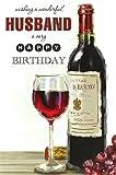 Cards Galore Online Mann Geburtstagskarte–Rot Wein Flasche, Big Glas, Kork & Lila Trauben 22,9x 15,2cm