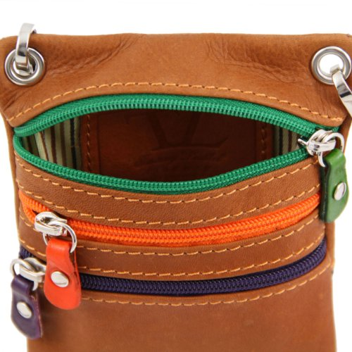 Tuscany Leather TL Bag - Tracollina in pelle morbida Verde scuro Borse uomo in pelle Talpa scuro
