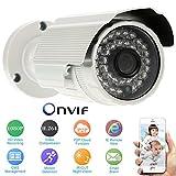 KKmoon (2.0MP 1080p HD P2P) CMOS Wasserdicht CCTV Überwachungskamera IP Kamera Unterstützt Phone Control Onvif Nacht anzeigen Motion Detection E-Mail Alarm Überwachung MY314