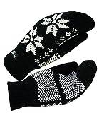 EveryHead Fiebig Guanti Da Donna Muffole A Manopola In Maglia Inverno Foderato Thinsulate Norvegese Per Donne (FI-58022-W16-DA0-18-M) incl Hutfibel