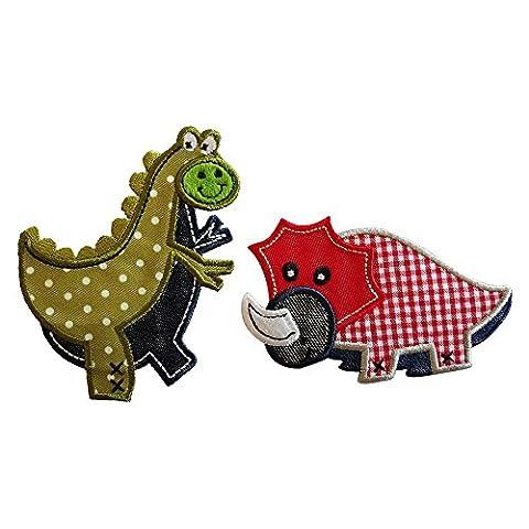 Roter Dino 9X6cm T-Rex 7X9cm flicken Stoff