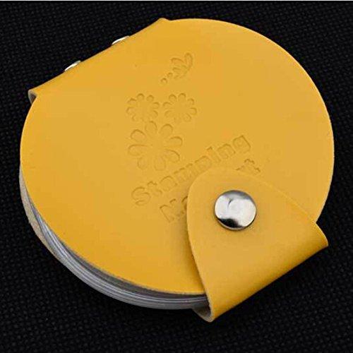 Pochette de rangement Plaques Stamping - Ronde - 24 emplacements - JAUNE