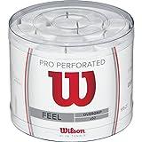Wilson Pro WRZ4008WH Confezione da 60 Grip, Unisex – Adulto, Bianco, Taglia Unica