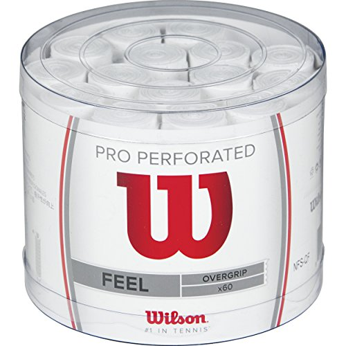 Wilson Overgrip Pro Perforated 60er, Weiß, 0076260153800000