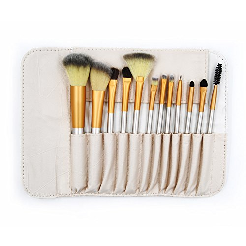 Vinallo 12 pcs Abody Lot de brosse de maquillage professionnel, Essential Kit de pinceaux à maquillage