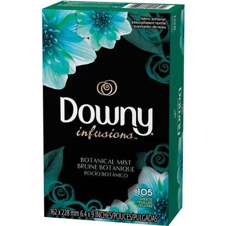 Downy Infusions 105 Tumble dryer sheets from the USA (Botanical Mist) by Downy (Botanical Infusion)