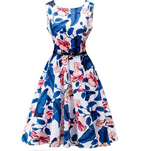 CoutureBridal® femme robe élégante vintage 1950's Audrey Hepburn soirée cocktail pique-nique col de cœur zip Couleur 2