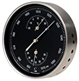 LUFFT Wetterstation - Barometer, kombiniert mit Bimetall-Thermometer und Hygrometer Ø 130 mm - schwarzes Blatt