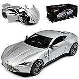 alles-meine.de GmbH Aston Martin DB10 Coupe Silber James Bond Spectre Ab 2014 1/18 Mattel Elite Modell Auto mit individiuellem Wunschkennzeichen