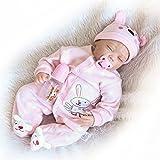 NPK Collection Reborn Baby Doll Soft Silicone 22inch 55cm Newborn Baby Doll muñeca realista de vinilo muñecas traje rosa durmiendo
