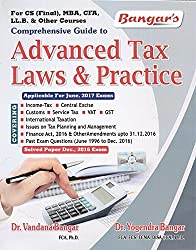 Aadhya Prakashans Comprehensive Guide to Advanced Tax Laws and Practice for CS Professional June 2017 Exam by