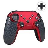 Jevogh Manette Pro Switch Sans fil, GR92 Manette Bluetooth Pro pour Nintendo Switch & PC, Manette de jeu sans fil à distance Joypad avec DualShock et Gyro Axis - Rouge (fabriqué par un tiers)