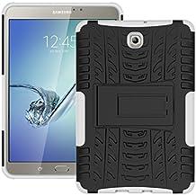 """Carcasa Tablet Galaxy Tab S2 8.0"""", KATUMO® Funda Rigida Cubierta Silicona para Samsung Galaxy Tab S2 8"""" pulgadas SM-T710/SM-715 Bumper Funda Case Cover Carcasa Protectora-Blanco"""