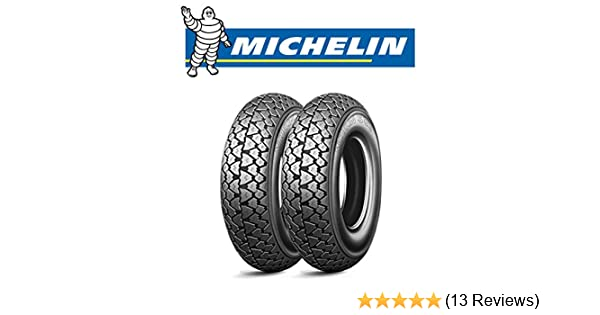 Pair Michelin S83 Tyre 3 00 10 42j For Vespa 50 Special Auto