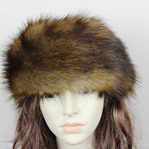 SwirlColor Russian Style Faux Fur Headband Winter Earwarmer Earmuff