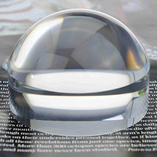 oande Briefbeschwerer Lupe Spiegel Crystal Clear Dome Lupe für Karte Lupe und Lesehilfe 3.1 INCH