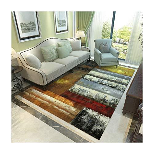 Unbekannt Wohnzimmer Teppich Teppich American Home Wohnzimmer Couchtisch Teppich Einfache Europäische Teppich Schlafzimmer Anti-Rutsch-Matte Decken (Farbe : B, größe : 180cm*280cm) -