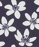 Vliestapete Blumen Geblümt Floral lila Tapete Rasch Prego 700183