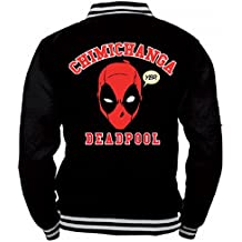 734482bb014 Marvel Comics Deadpool Hombre College – Chaqueta chimic chimichanga
