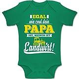 Shirtracer Sprüche Baby - Egal wie Cool Dein Papa meiner ist Landwirt - 3-6 Monate - Grün - BZ10 - Baby Body Kurzarm Jungen Mädchen