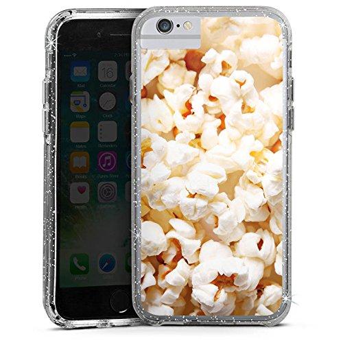 Apple iPhone X Bumper Hülle Bumper Case Glitzer Hülle Kino Poppin Corn Popcorn Bumper Case Glitzer silber