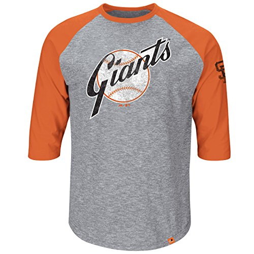 MLB Baseball SAN FRANCISCO GIANTS Shirt 3/4 sleeves Home Stretch in LARGE (L) (Jersey-sport-shirt 3/4 Sleeve)
