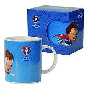 UEFA EURO 2016 – Kaffeetasse fliegendes Maskottchen in blau