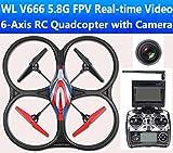 RC QUADRICOTTERO - DRONE WLTOYS V666 5.8 Ghz FPV - TELECAMERA HD - MONITOR TEMPO...