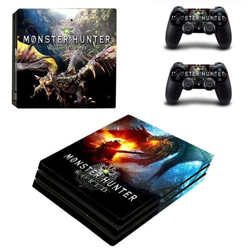 CIVIQ for Monster Hunter World PS4 Pro Skin Sticker für Playstation 4 Konsole und 2 Controller PS4 Pro Skins Vinyl (Monster Truck Ps4)