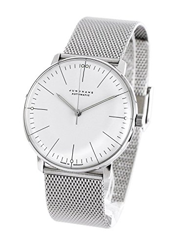 Junghans Men's 'Max Bill' Automatic Stainless Steel Dress Watch, Color:Silver-Toned (Model: 027/3501.00.M)