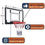 BUMBER Panneaux de Basket-Ball Murals Los Angeles 80 x 58cm et Phoenix 110 x 75cm, Léger, Portable et déplacable