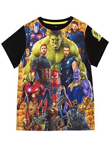 Marvel Camiseta para Niño Avengers Multicolor 8-9 Años
