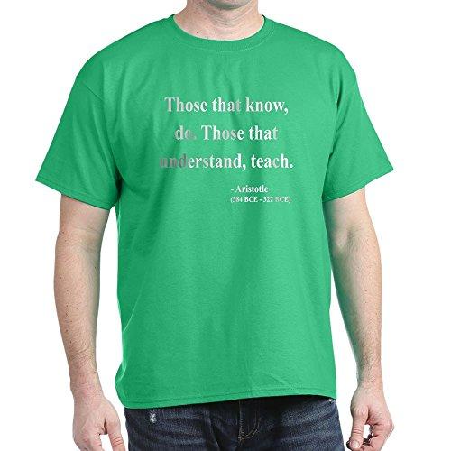CafePress Aristoteles 15Dark T-Shirt–100% Baumwolle T-Shirt Gr. Medium, Kelly Green