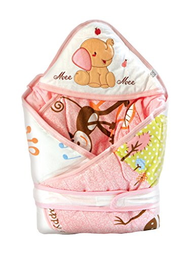 Mee Mee Baby Warm Wrapper Cum Blanket with Hood (Pink)  available at amazon for Rs.839