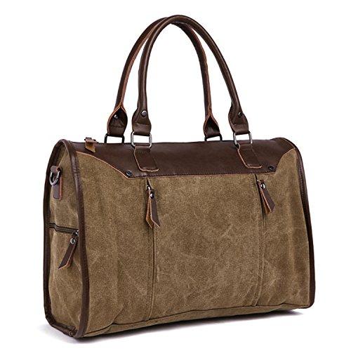 Outreo Handtasche Kuriertasche Herren Aktentasche Herrentaschen Umhängetasche Freitag Vintage Schultertasche Retro Messenger Bag Laptop Taschen für Reisetasche Canvas Braun