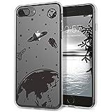 GrandEver Coque iPhone 8 Plus Silicone Transparente avec Motif ( Pomme ) Apple...