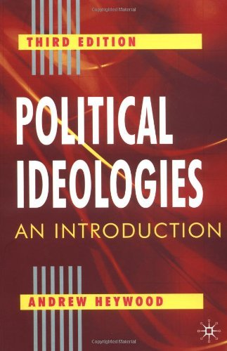 Portada del libro By Andrew Heywood - Political Ideologies: An Introduction (3rd Revised edition)