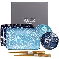 Tokyo Design Studio, Sushi Set, 6-teilig, Japan, Shiki Design