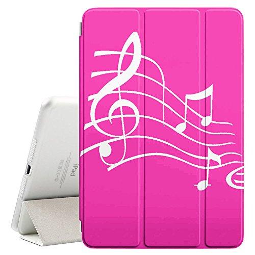 Graphic4You Musik Noten Muster Design Smart Cover Hülle Dünn Tri-Fold Schlank Superleicht Ständer Cover Schutzhülle Tasche für Apple iPad Air 10.5