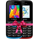 I KALL K11 Dual Sim 4.57 Cm (1.8 Inch) Mobile Phone Combo - (Blue & Red)