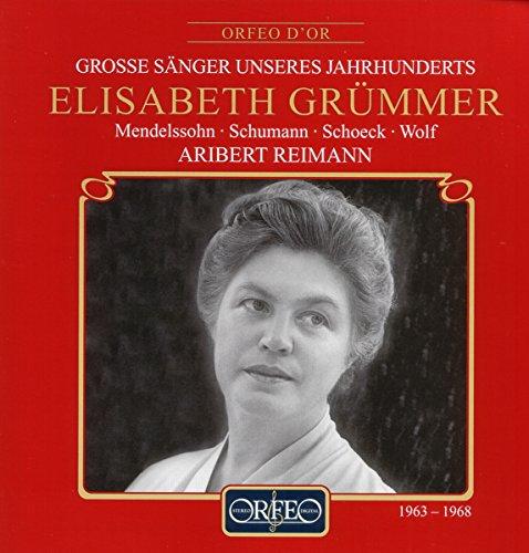 Elisabeth Grümmer, soprano - Lieder
