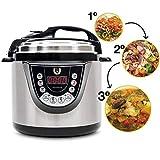 Olla GM Programable Modelo G Deluxe. Robot de Cocina multifunción Que Cocina por ti, con Capacidad de 6 litros (hasta 12 raciones). Navegador GMDrive. Cubeta Excelsior.... (Modelo D)