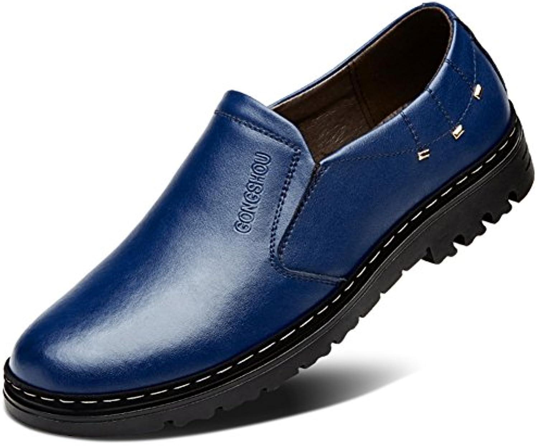 Herbst atmungsaktiv Herren Schuhe/Business casual Lederschuhe/Männlichen Perücke Füße Schuhe/ England Mann Schuhe